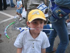 little olim at independance day in Haifa school
