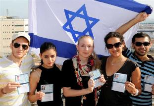 Olim receiving their first Israel ID card