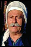 Druze wearing traditional headcover